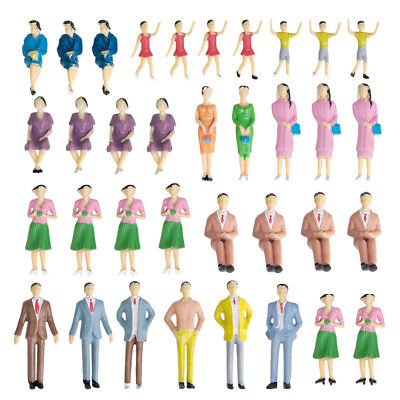 1:30 Approx.50pcs Painted Model Train Passenger Station People Figures New