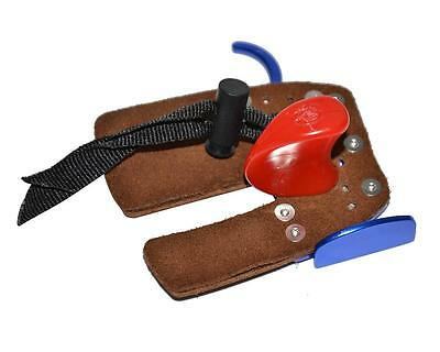 Archery Leather Protector Tab  Finger Guard Gloves Hunting Right Hand Hunting
