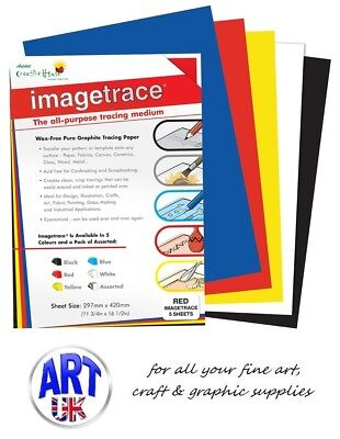 Creative House IMAGE TRACE wax free pure graphite tracedown transfer paper A4 A3