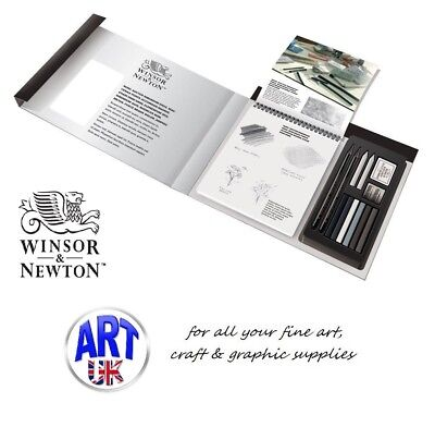 Winsor & Newton Artists SKETCHING TIPS & TECHNIQUES Gift Set, graphite, pencil