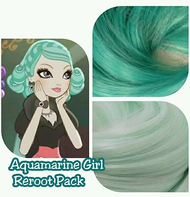Ever After High Aquamarine Doll Re-root Pack Nylon Hair Color Blend Kit for OOAK
