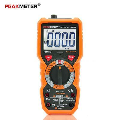 True RMS Digital Multimeter AC/DC Voltage Current Frequency hFE NCV Tester C5X5