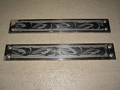 Vintage Decorative Art Large Steel Door Bracket Rectangle Pair Interior Decorate