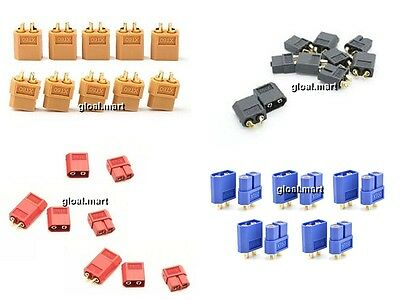5Pairs/10Pcs  XT60 Male Female Bullet Connectors Plugs for RC Liop Battery ~XT1A