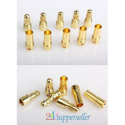 New 40x 3.5mm Gold-plated Bullet Banana Plug Connector Male + FemaleRC Battery