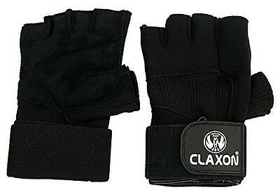 """CLAXON Pro 999 Neoprene Gym Gloves With Palm Sweat Leather & 12"""" Wrist Support,"""