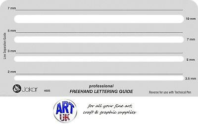 Jakar Draughtsmans Professional Freehand Lettering Guide Template Stencil - 4605