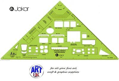 Jakar Kitchen Cabinet Layout Metric Template Drawing Stencil Scale Ruler - 4644