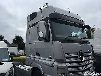 Mercedes Actros MP4 ABS Polished Chrome Side Mirror Covers - Bottom