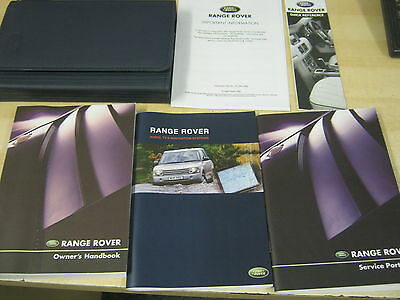 Range Rover  Handbook  Owners Manual 2002-2005  Inc Service And Sat Nav Book