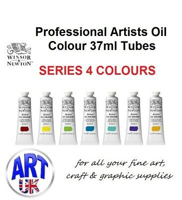 Series 4 Winsor & Newton Professional Artists Oil Paints 37ml Tubes Colours