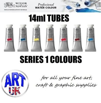 Winsor & Newton PROFESSIONAL ARTISTS Watercolour Paint 14ml TUBE Series 1 Colour