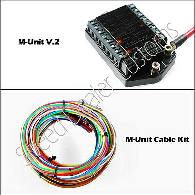 Motogadget M-Unit V.2 Motorcycle Switch Control Center and Cable Kit Combo