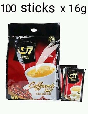 100 sticks x16g Vietnamese Trung Nguyen G7 Instant Coffee 3in1 Coffeemix sachet