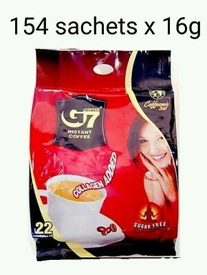 154 x16g Vietnam Trung Nguyen G7 Instant Coffee 3 in 1 COLLAGEN ADDED SUGAR FREE