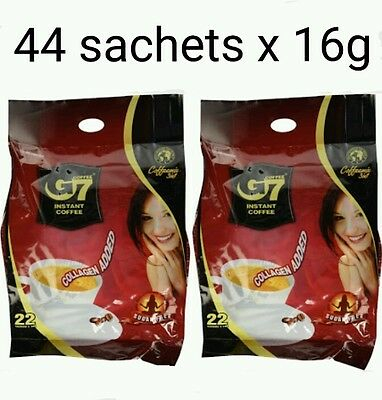 44 x16g Vietnam Trung Nguyen G7 Instant Coffee 3 in 1 COLLAGEN ADDED, SUGAR FREE