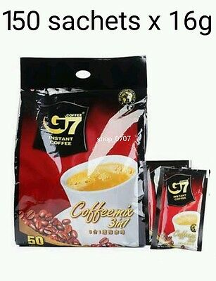 150 sachets x 16g Vietnamese Trung Nguyen G7 Instant Coffee 3 in 1 Coffeemix