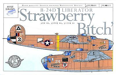 Mike Grant Decals 1/72 B-24D LIBERATOR STRAWBERRY BITCH 9th Air Force