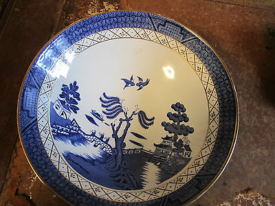 Royal Doulton Booths  Old Willow TC 1126 Bowl 22.5 x 7 Cm Deep VGC 1st Quality