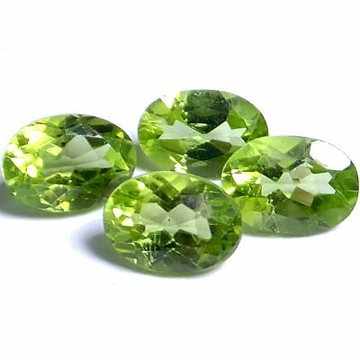 NATURAL PRETTY GREEN PERIDOT LOOSE GEMSTONES (1 piece) OVAL SHAPE (7 x 4.8 mm)