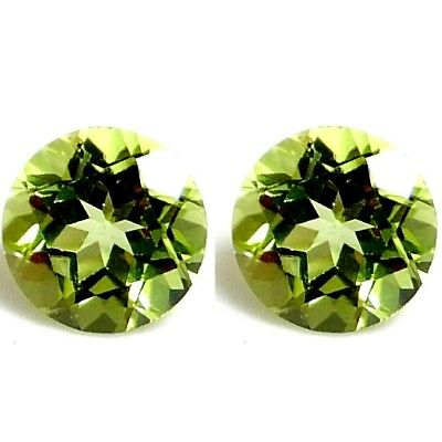 NATURAL VERY PRETTY GREEN PERIDOT LOOSE GEMSTONE (4.6 mm) ROUND SHAPE