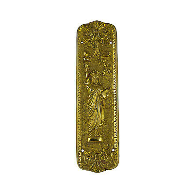 Statue of Liberty Push Door Plate Hardware Vintage Restoration Replica