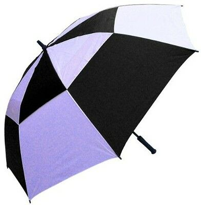 RainStoppers 62-Inch Double Canopy Golf Umbrella (Black and White)