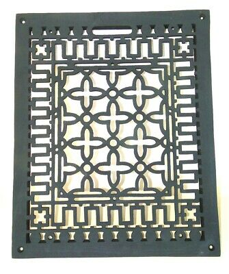 Rectangular Floor Grate Medium Register Solid Cast Iron Vintage Old Style