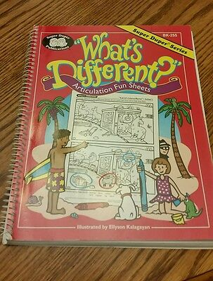 Super duper what's different articulation fun sheets bk-255