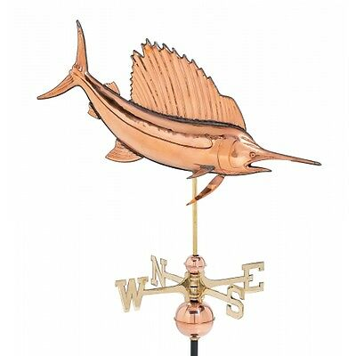 SAILFISH bill fish copper WEATHER VANE Vintage Old Style shore Beach