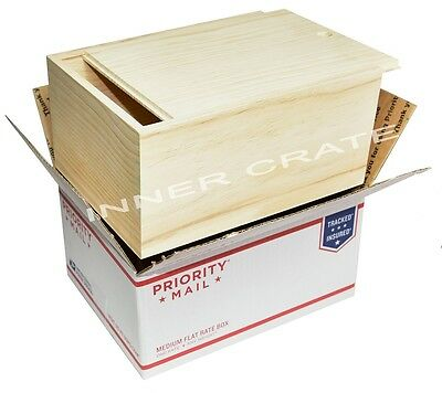 Lot of 6 Natural Unfinished Pine Wood boxes With Sliding Lid, Product Packaging