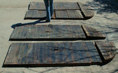 Savannah Shutter Doors for Hurricanes Architectural Antique Iron and Wood Rare