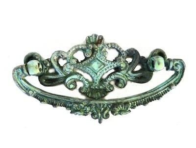 Old Crown Top Cabinet Hardware Replica Dresser Pull Brass w Tiffany Aged Finish