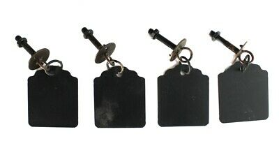 Old Fashioned Drawer Pulls Chalkboard Metal Antique Replica • CAD $34.59