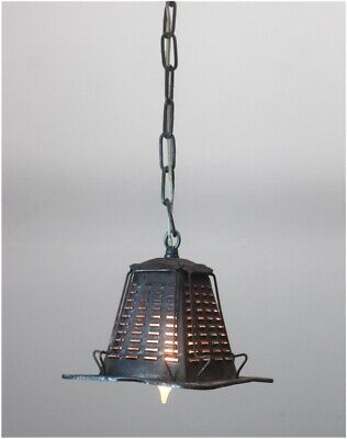 Tin Metal Four Slice Toaster Pendant Ceiling Light Fixture Real Vintage