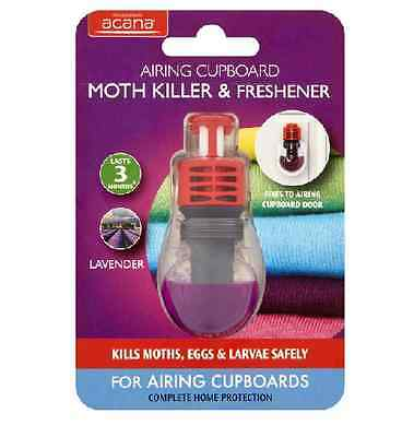 Acana Airing Cupboard MOTH KILLER and FRESHENER with Lavender Fragrance