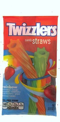 Twizzlers Rainbow Twists Candy Raspberry Melon Lemon Chewy Licorice Candies BFR