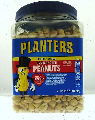 Planters Dry Roasted Party Size Peanuts With Sea Salt, 34.5 oz BN
