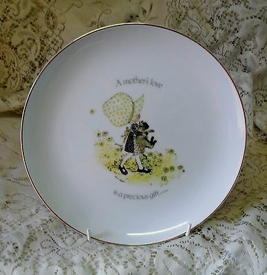VINTAGE HOLLY HOBBIE 24cm DISPLAY PLATE  A MOTHER'S LOVE IS A PRECIOUS GIFT
