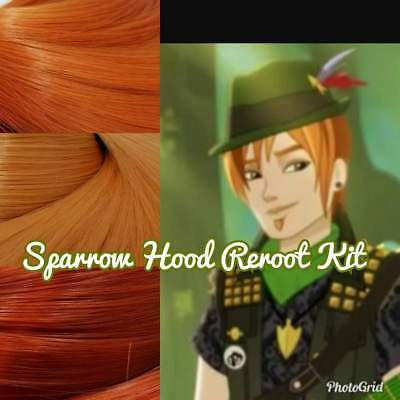 Ever After High Sparrow Boy Doll Re-root Pack Nylon Hair Kit for OOAK Custom