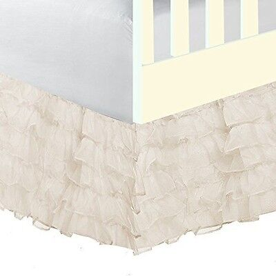 BabyDoll Bedding Baby Doll Bedding  Layered (5 tiered)  Nuetral Crib Skirt/Dust