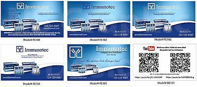 1000 Immunotec Color Business Cards English or Spanish