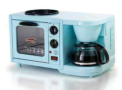 Retro Multi Function Breakfast Center, Toaster Coffee Maker Pot Griddle Vintage