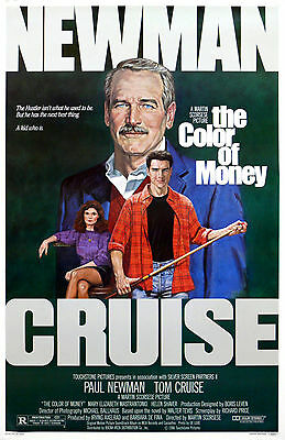 """""""COLOR OF MONEY"""" Paul Newman Tom Cruise Classic Movie Poster A1A2A3A4Sizes"""
