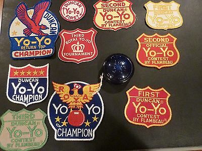 Lot of 10 Vintage Duncan & Royal Yo-Yo Patches (1st, 2nd, 3rd places)-never sewn