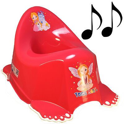 Musical Non-Slip Colourful Princess Design Potty Training Boy Toddler Kid Pink