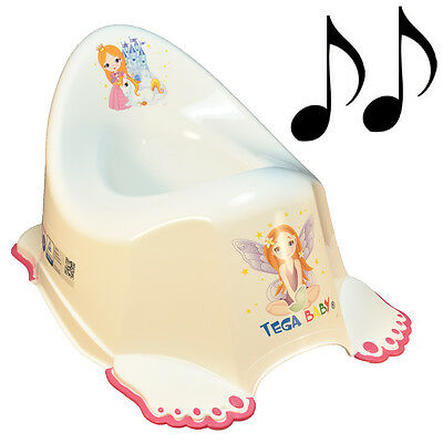 Musical Non-Slip Colourful Princess Design Potty Training Boy Toddler Kid White