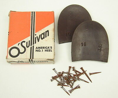 Antique Vintage NOS O'Sullivan Shoes Rubber Heels / New in Original Box