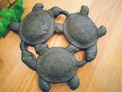 Cast Iron Turtles Kitchen Trivet Coaster 17x16cm Rustic Home Wall Decor OY15007