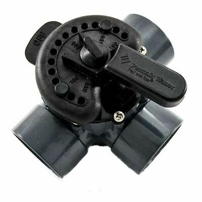 3 Way Jandy Actuator Valve 50mm For Swimming Pool Plumbing. Never Lube Valve